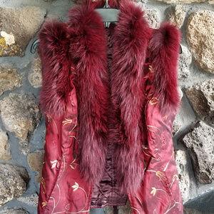 Jackets & Blazers - Faux Fox Fur Vest, Like New.